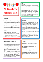 Feb 16 – Newsletter Y1