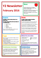 Feb 16 – Newsletter Y2
