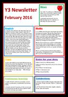 Feb 16 – Newsletter Y3
