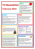 Feb 16 – Newsletter Y4