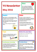 Y4 Newsletter May