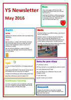 Y5 Newsletter May